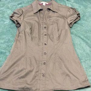 Banana Republic grey short sleeve shirt